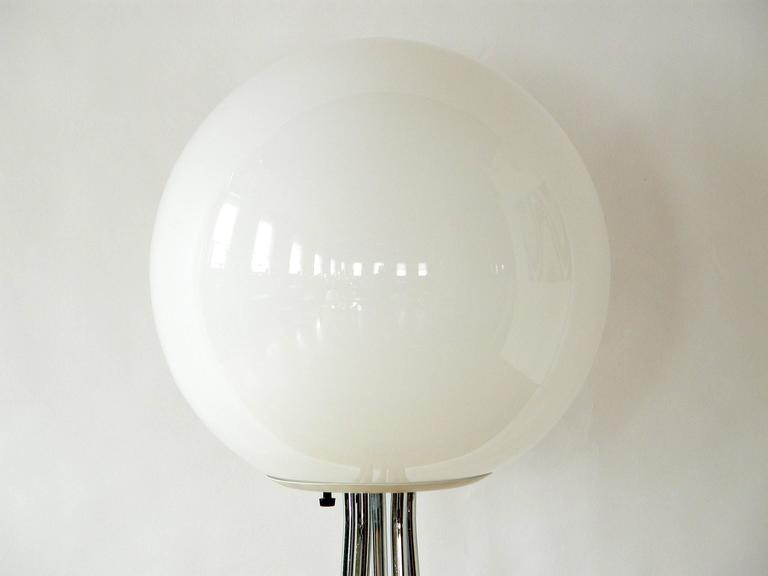 Chrome and Glass Ball Floor Lamp  2