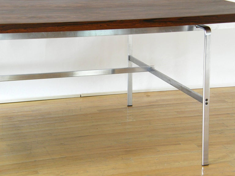 Rosewood and Chrome Desk by Preben Fabricius and Jørgen Kastholm 10