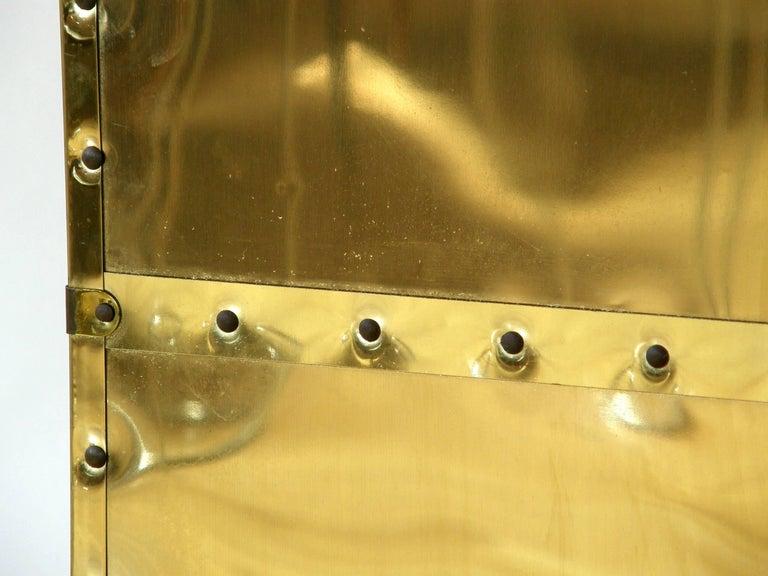 Riveted Brass Folding Screen 10