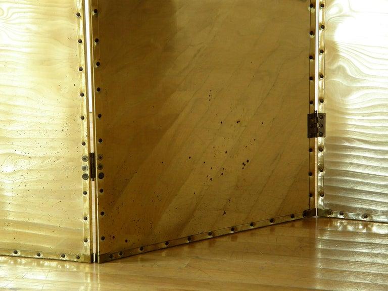 Riveted Brass Folding Screen 7