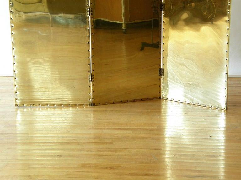 Riveted Brass Folding Screen 5