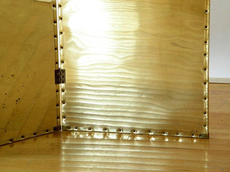 Riveted Brass Folding Screen 8