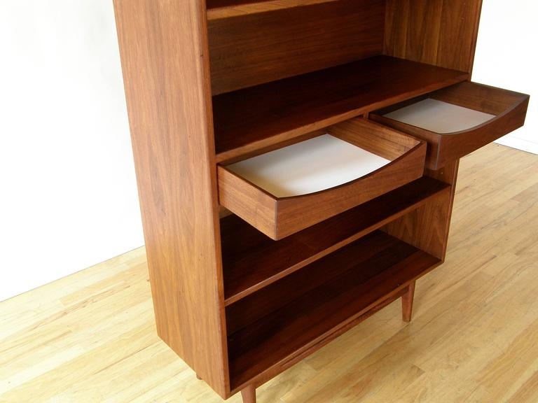 American Jens Risom Bookcase with Drawers For Sale
