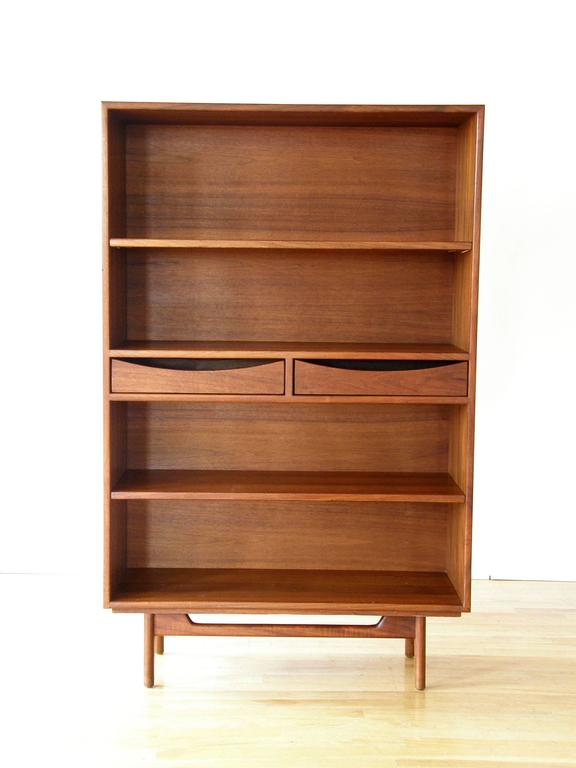 Mid-Century Modern Jens Risom Bookcase with Drawers For Sale