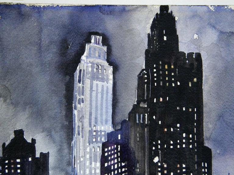 Ruth Van Sickle Ford Watercolor of New York City 3