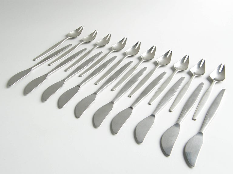 Folke Arström Focus Flatware Set, Service for Ten 4