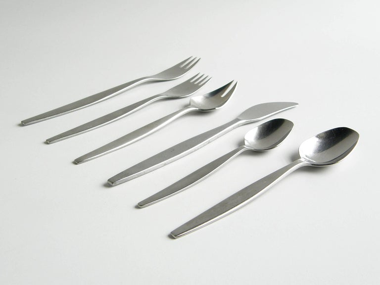 Folke Arström Focus Flatware Set, Service for Ten 2