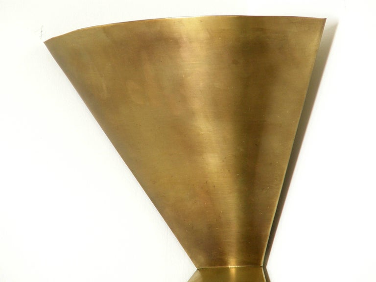 Edward Wormley Brass Corner Lamps for Lightolier 5