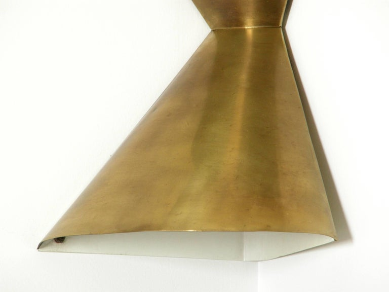 Edward Wormley Brass Corner Lamps for Lightolier 6