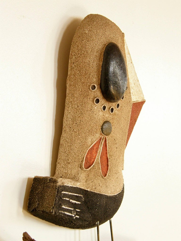 Mid-20th Century Sand Cast Wall Sculpture of a Bird on a Branch by George Nelson For Sale