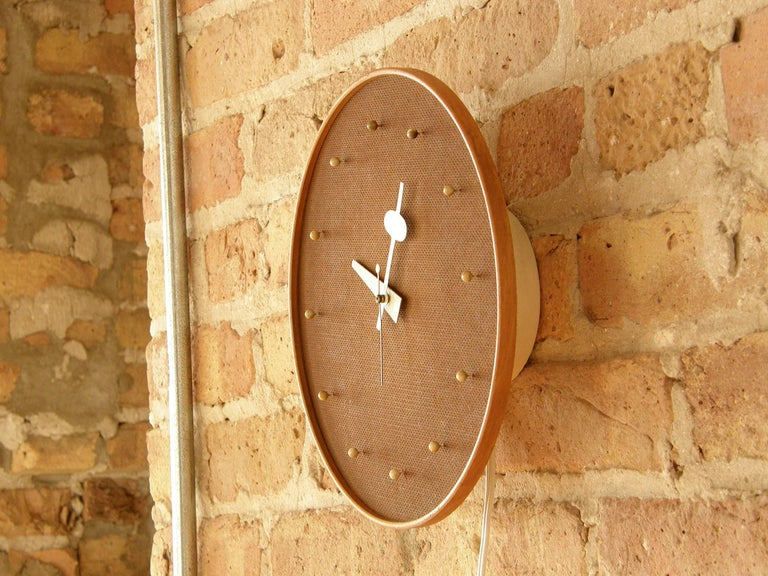 Mid-Century Modern Electric Wall Clock by George Nelson Associates for Howard Miller For Sale