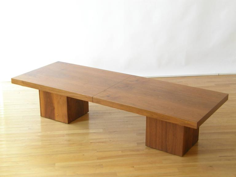Expandable Coffee Table john keal expandable coffee table for sale at 1stdibs