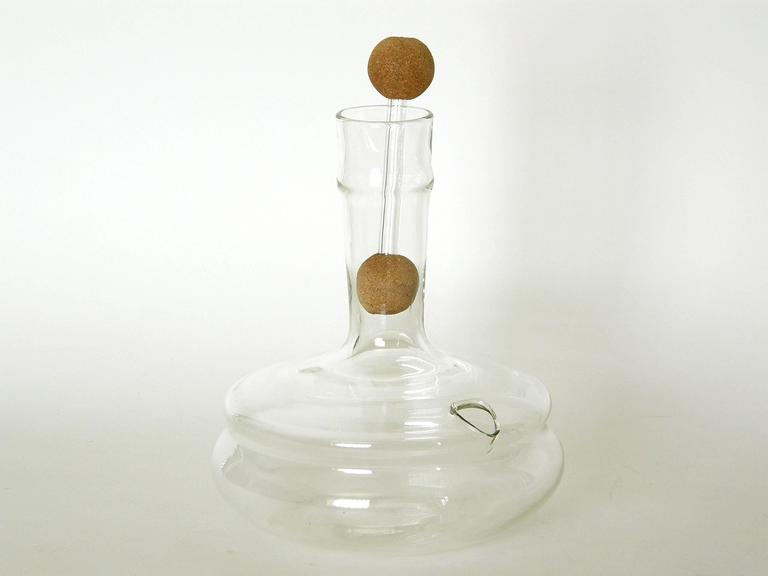 Industrial Dr. Peter Schlumbohm for Chemex Glass Water Kettle with Cork Balls Stopper For Sale