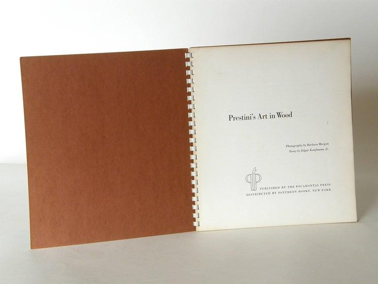"American ""Prestini's Art in Wood"" Book by Edgar Kaufmann Jr For Sale"