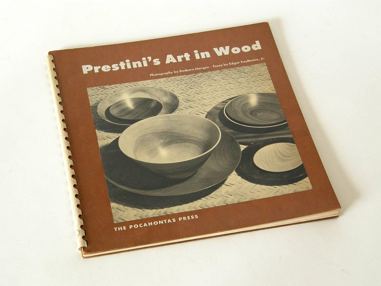 This monograph on James Prestini has an essay by Edgar Kaufmann Jr. and numerous, beautiful photographs by Barbara Morgan of Prestini's exquisite turned wood objects and experimental sculptures. The book is a first edition from a limited run of 1000
