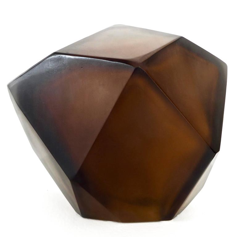 Modern Italian Murano Blown Glass Sculpture by Massimo Micheluzzi, Murano, 2012 For Sale