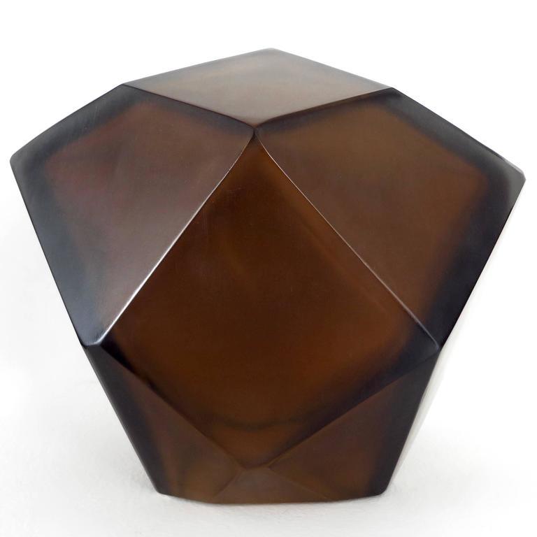 Contemporary Italian Murano Blown Glass Sculpture by Massimo Micheluzzi, Murano, 2012 For Sale