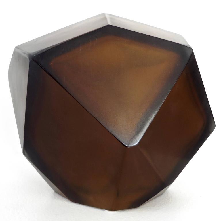 Murano Glass Italian Murano Blown Glass Sculpture by Massimo Micheluzzi, Murano, 2012 For Sale