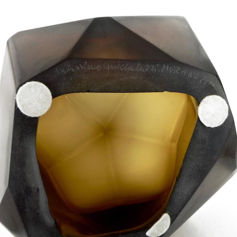 Italian Murano Blown Glass Sculpture by Massimo Micheluzzi, Murano, 2012 For Sale 4