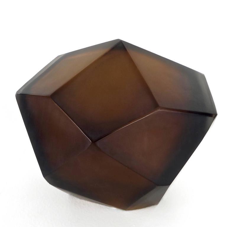 Italian Murano Blown Glass Sculpture by Massimo Micheluzzi, Murano, 2012 For Sale 1