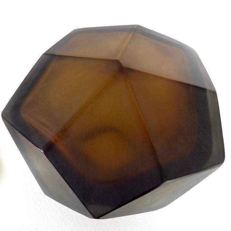 Italian Murano Blown Glass Sculpture by Massimo Micheluzzi, Murano, 2012 For Sale 3
