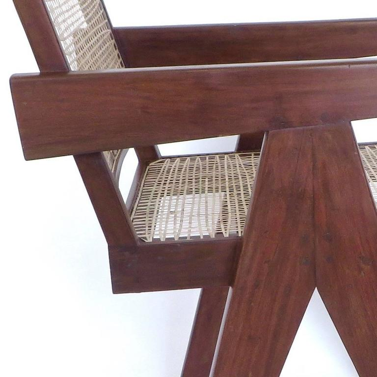 Pair of Office Dining Armchairs by Pierre Jeanneret from Chandigarh 1