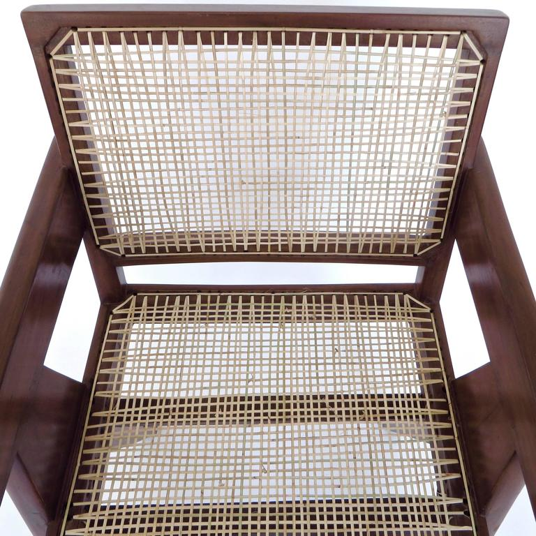 Pair of Office Dining Armchairs by Pierre Jeanneret from Chandigarh 2