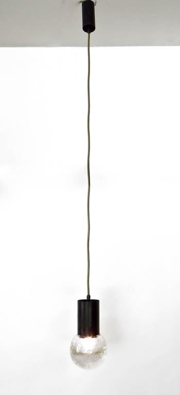 Gino Sarfatti and Archimede Seguso Murano Glass Single Pendant For Arteluce For Sale 2