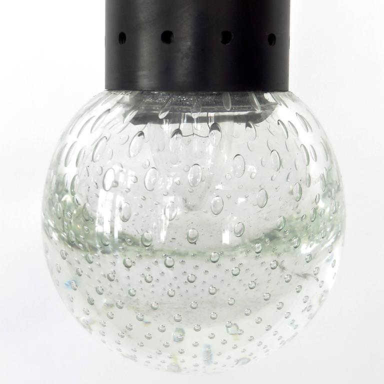 Gino Sarfatti and Archimede Seguso Murano Glass Single Pendant For Arteluce In Excellent Condition For Sale In Chicago, IL