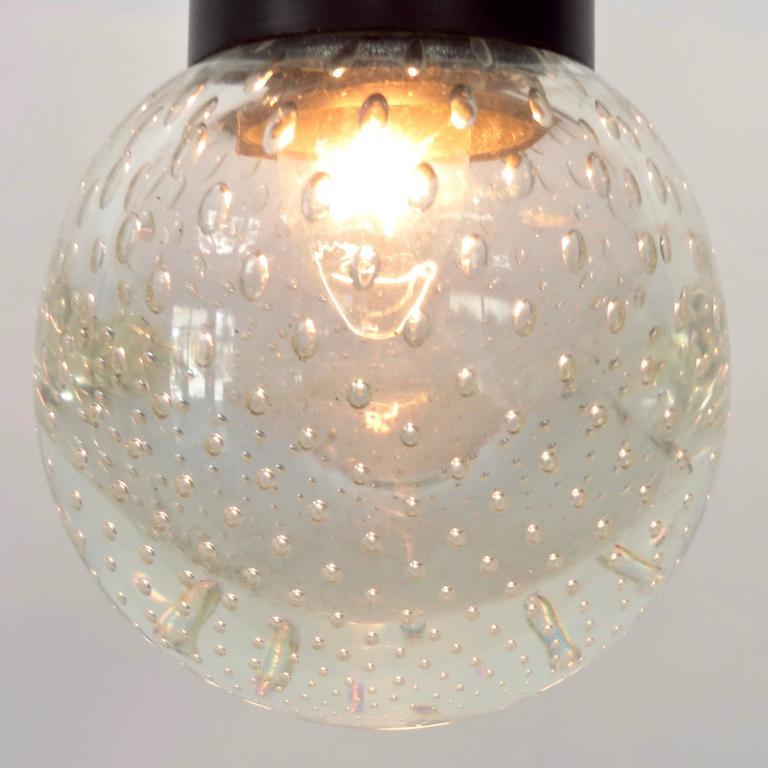 Mid-20th Century Gino Sarfatti and Archimede Seguso Murano Glass Single Pendant For Arteluce For Sale