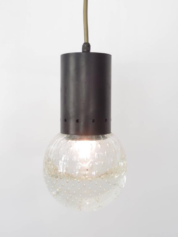 Gino Sarfatti and Archimede Seguso Murano Glass Single Pendant For Arteluce For Sale 1