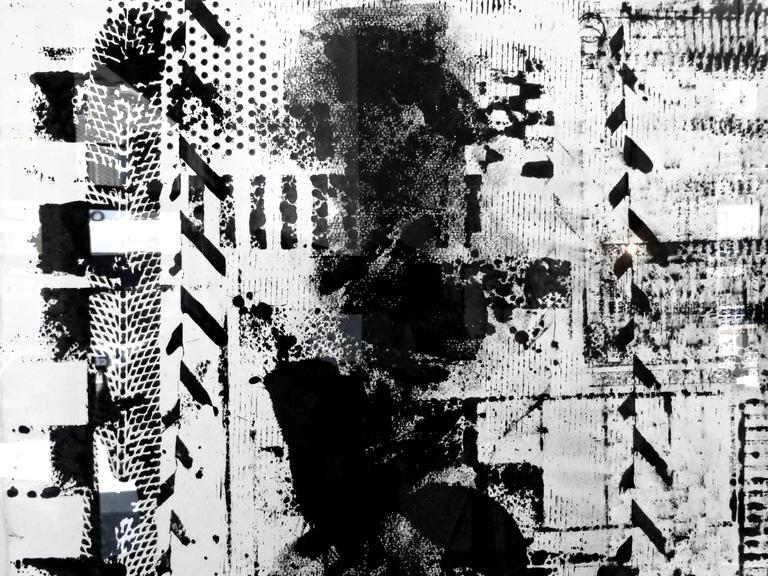 Multi Layered Black India Ink Drawings on Paper by Elliot Bergman, 2016