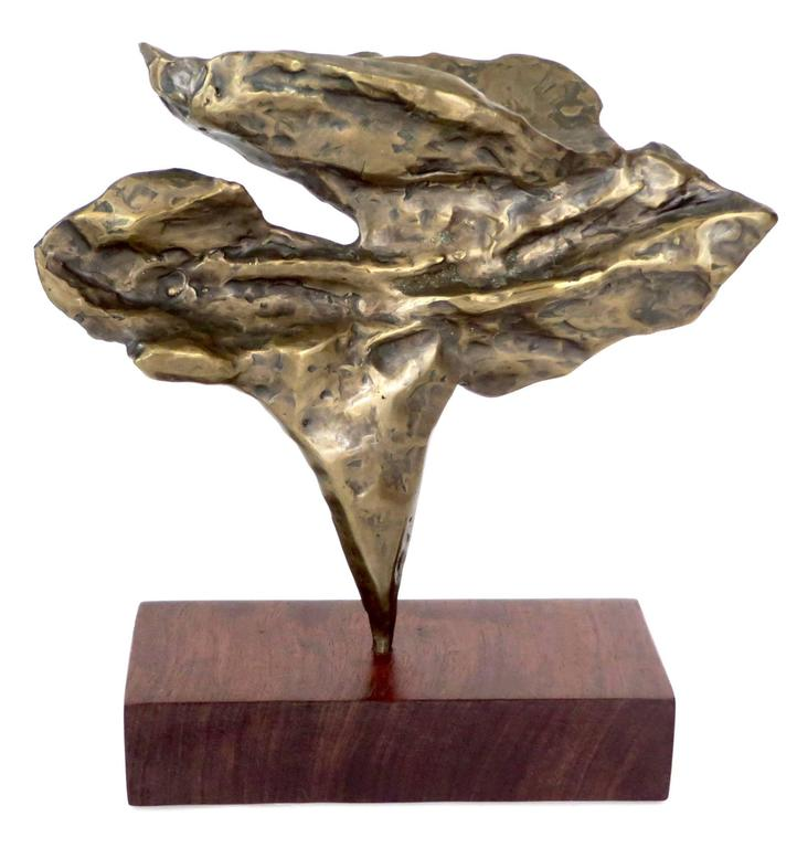 Cast Bronze American Detailed Abstract Sculpture