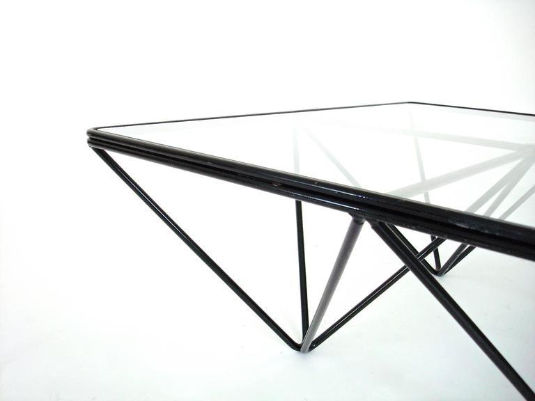 Italian Square Black Alanda Coffee Table by Paolo Piva for B&B Italia 9