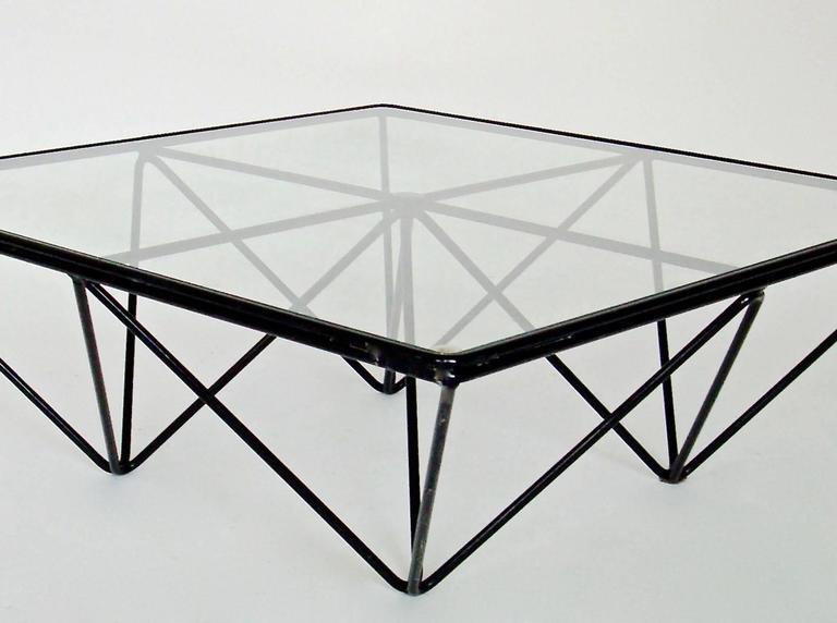 Italian Square Black Alanda Coffee Table by Paolo Piva for B&B Italia 3