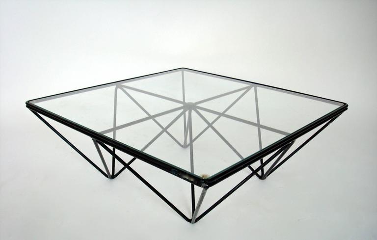 Italian Square Black Alanda Coffee Table by Paolo Piva for B&B Italia 6