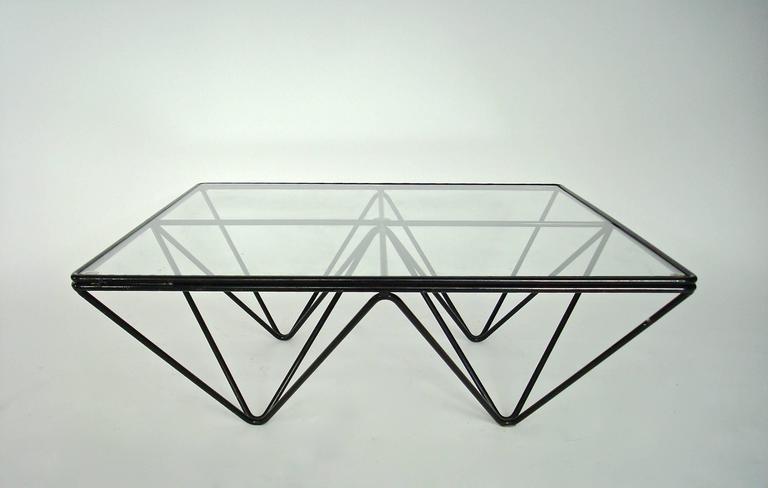 Italian Square Black Alanda Coffee Table by Paolo Piva for B&B Italia 7