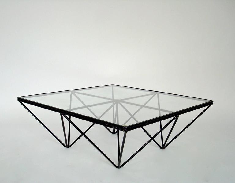 Italian Square Black Alanda Coffee Table by Paolo Piva for B&B Italia 8