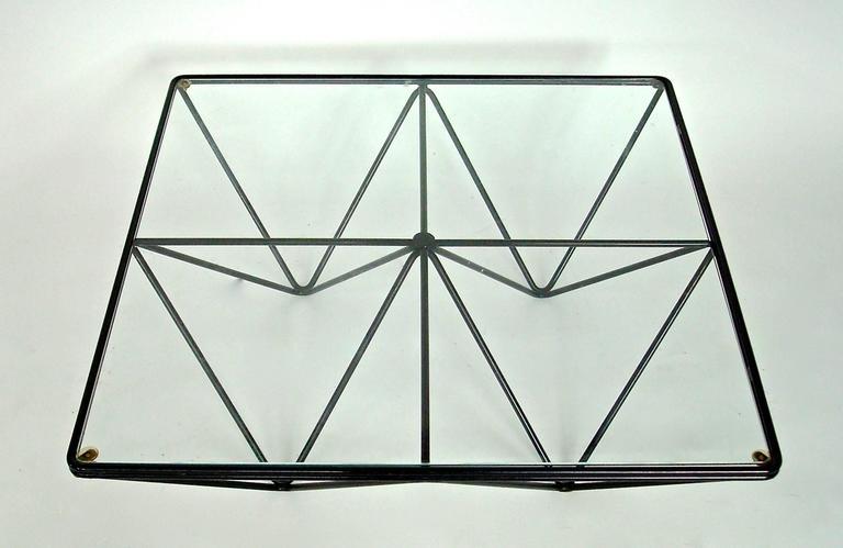 Italian Square Black Alanda Coffee Table by Paolo Piva for B&B Italia 4