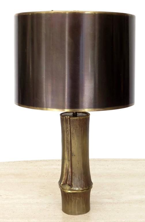 French Bronze Table Lamp by Maison Charles Model Bambou 4
