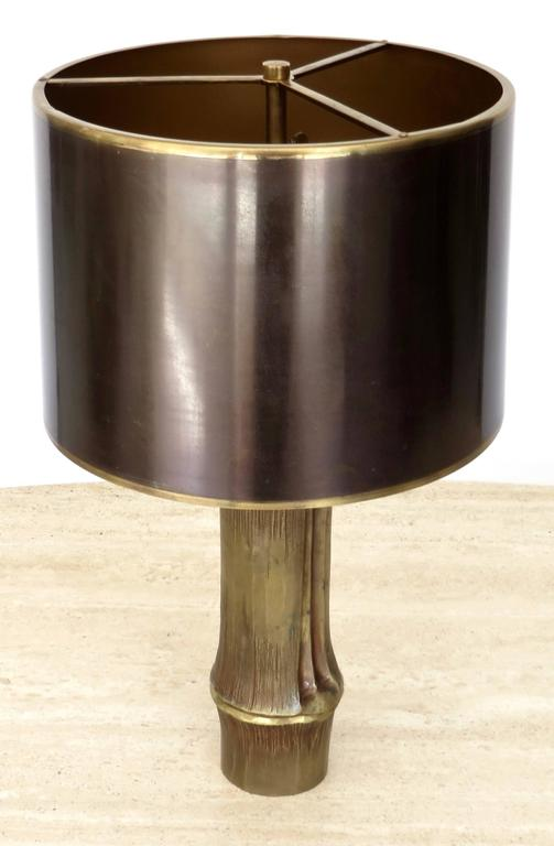 French Bronze Table Lamp by Maison Charles Model Bambou 3