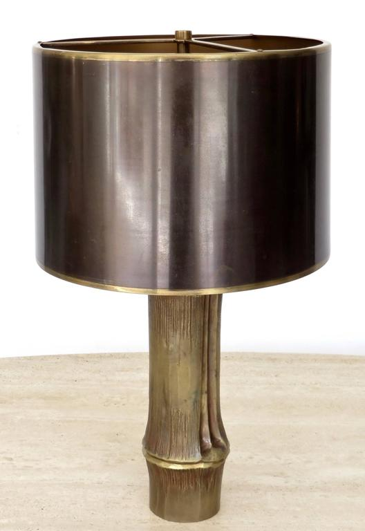 French Bronze Table Lamp by Maison Charles Model Bambou 2
