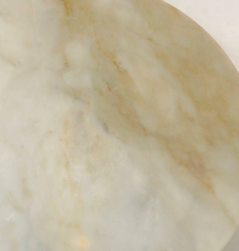 Vintage Italian Round Onyx Dining or Centre Table in Warm Tones of Cream 5