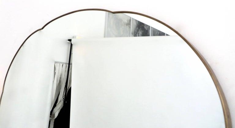 Mid-20th Century Monumental Italian Brass Mirror For Sale