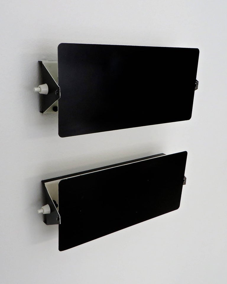 Charlotte Perriand double socket vintage CP-1 sconces, Steph Simon edition, Paris, France.