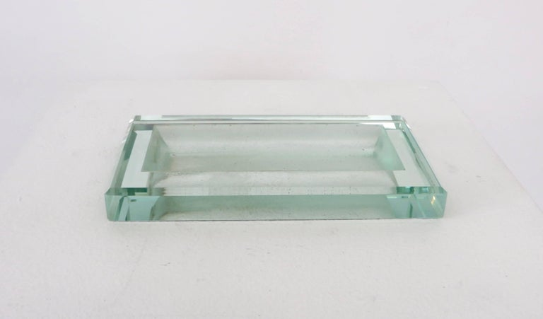 Glass Art Deco Vide Poche by French Designer Jean Luce 3