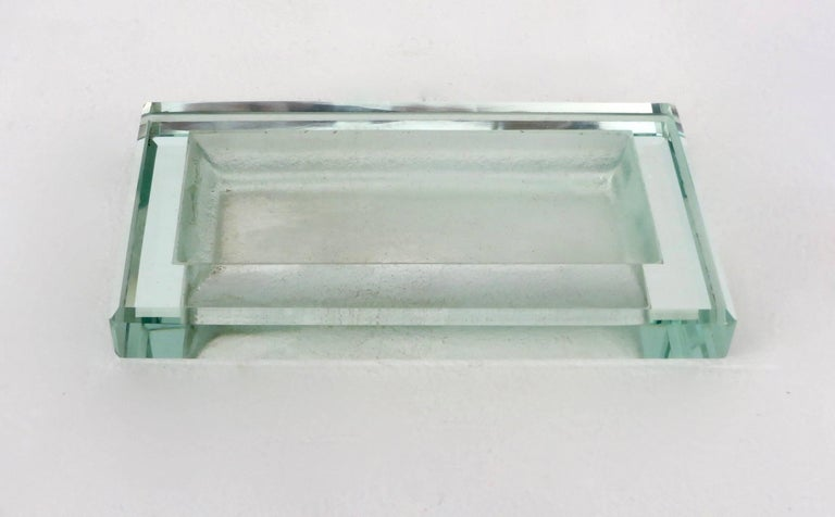 Glass Art Deco Vide Poche by French Designer Jean Luce 4