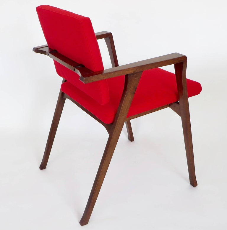 Mid-20th Century Franco Albini Luisa Italian Dining Chairs Set of Six for Poggi For Sale