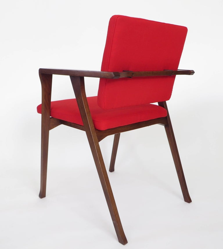 Early Luisa armchairs chairs designed by Franco Albini for Poggi, Pavia, Italy, 1955. 