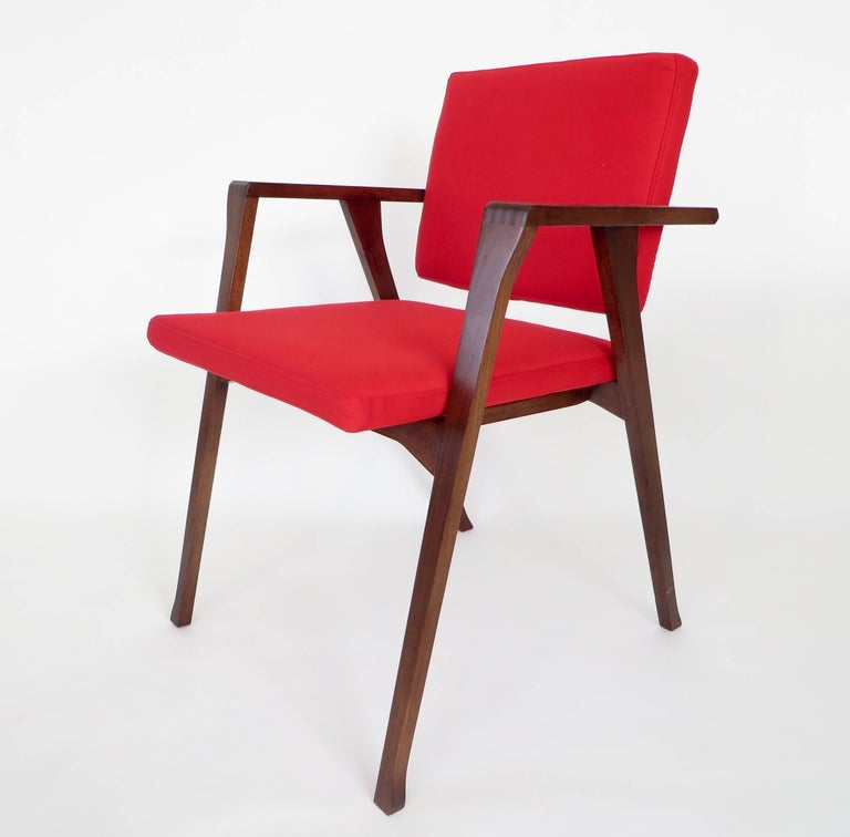 Mid-Century Modern Franco Albini Luisa Italian Dining Chairs Set of Six for Poggi For Sale